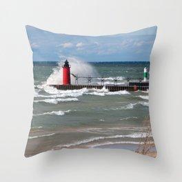 South Haven Splash Throw Pillow