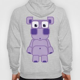 Super cute cartoon purple pig - bring home the bacon with everything for the pig enthusiasts! Hoody