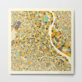 New Delhi Map Metal Print