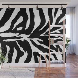 Black and white Zebra Stripes Design Wall Mural
