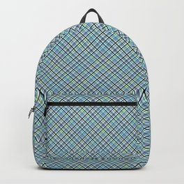 Checkered pattern in blue Backpack