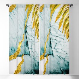 Abstract clouds. Luxurious beauty.  Art&Gold Home décor illustration hand painted Blackout Curtain