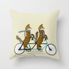 fox days lets tandem Throw Pillow
