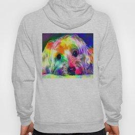 Colorful Yorkie By Annie Zeno  Hoody