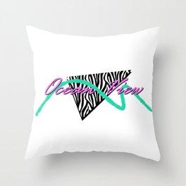 Ocean View | Streamline Modern Throw Pillow
