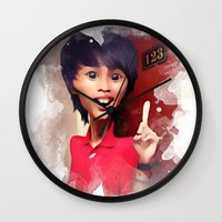 humor Wall Clocks featuring humor by thinKING