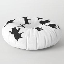 Cat Silhouette Floor Pillow