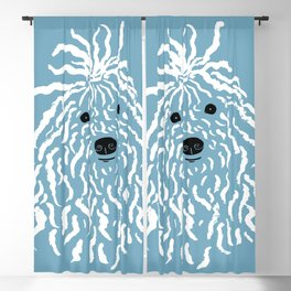 Puli (Blue and White) Blackout Curtain