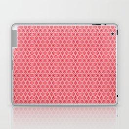 Chinoiseries Hexagone Flowers Red Laptop & iPad Skin