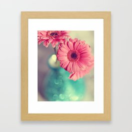 Pink Gerbera Daisy Framed Art Print