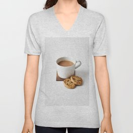 Coffee & Cookies Unisex V-Neck
