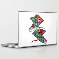 sneakers Laptop & iPad Skins featuring Paint sneakers by Cindys