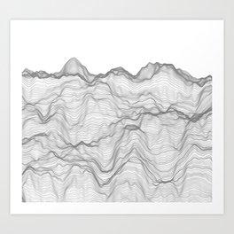 Soft Peaks Art Print