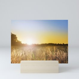 Sunset over Cornfield Mini Art Print