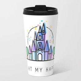 Meet me at my Happy Place Theme Park Skyline Travel Mug