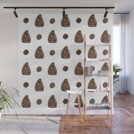 Spacing Pinecones Wall Mural