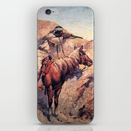 "Frederic Remington Western Art ""Apache Ambush"" iPhone Skin"