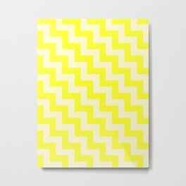 Cream Yellow and Electric Yellow Steps LTR Metal Print