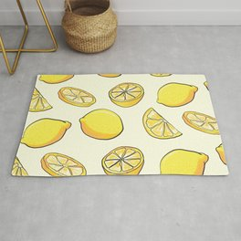 Fruit Summer Pattern Lemons Pattern Lemons Citrus Rug