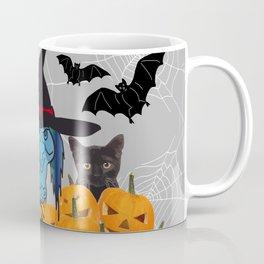 Witch bats pumpkin Halloween Coffee Mug