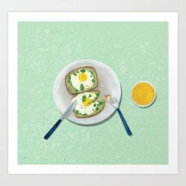 Avocado Toast no.2 Art Print