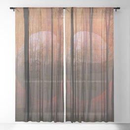 Not From Here, Surreal Forest Sheer Curtain