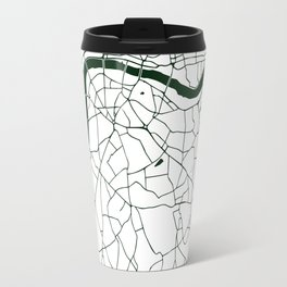 London White on Green Street Map Travel Mug
