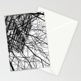 Tree Business Nature Merge BW Stationery Cards
