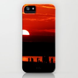 Sunset by the Beach Warnemünde Gemany iPhone Case