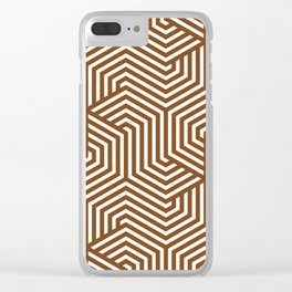 Russet - brown - Minimal Vector Seamless Pattern Clear iPhone Case