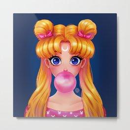Bubblegum Bunny Metal Print