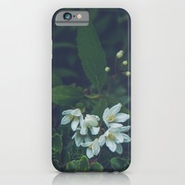 Little white flowers iPhone Case