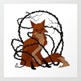 Fox in the Briar Art Print