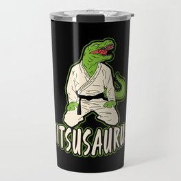 Funny Jiu Jitsu Marial Arts Dinosaur Fighter Gift Travel Mug