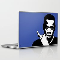 jay z Laptop & iPad Skins featuring Jay Z by Gary Barling