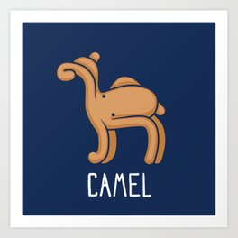 A Camel (That is Definitely not an Octopus) Art Print