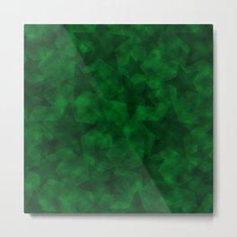Emerald Stars Metal Print