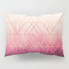 Pink Ombre Triangles Pillow Sham