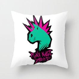 PUNX NOT DEAD Throw Pillow