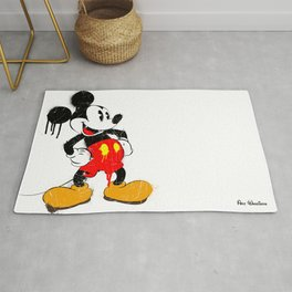 Mickey The Warrior Mouse Rug