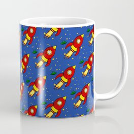 Space Rocket Pattern Coffee Mug