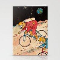 lunar Stationery Cards featuring Lunar Keirin by Juan Weiss