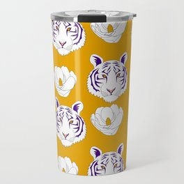 LSU yellow Travel Mug