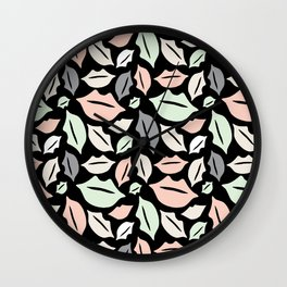 Don't Get Lippy! Spring Palette Wall Clock