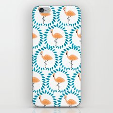Flamingo and Leaves iPhone & iPod Skin