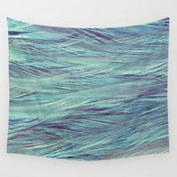 feather Wall Tapestries featuring Feather by RUEI