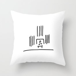 organist organ pipes in church music Throw Pillow
