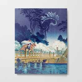 Ashitaka and the Forest Spirit Metal Print