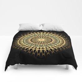 Black Gold Mandala Comforters