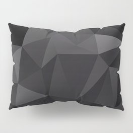 Abstract of triangles polygo in black colors Pillow Sham